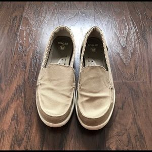 Crocs canvas slip-on loafers-EXCELLENT CONDITION